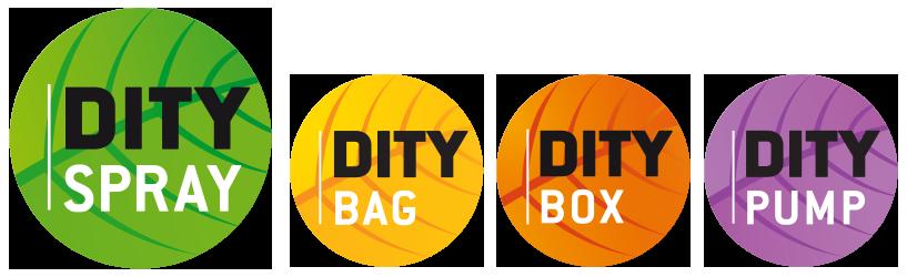 Dityspray Ditybag Ditybox Ditypump